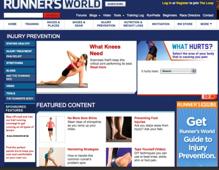 Runner's World Injury Prevention