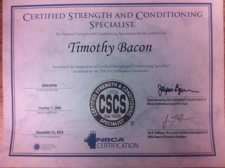 NSCA CSCS 2012
