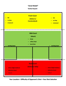 Zone Model for Squash Tactics